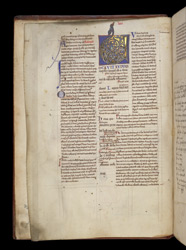 Illuminated Initial, In Glossed Books of Leviticus, Numbers, and Deuteronomy f.1v